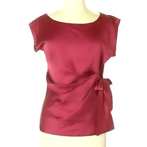 Cynthia Steffe silky blouse with side tie